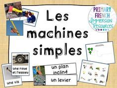 French - Simple Machines - Les Machines Simples Grade 2 Science, Primary Science, Science Projects For Kids, Science Activities, Matter Science, Core French, Creative Curriculum, French Immersion, Simple Machines