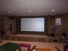 Movie room with small stage for karaoke... Super fun!!!