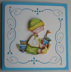 Voorbeeldkaart - geboortekaartje jongen - Categorie: Hobbydots - Hobbyjournaal uw hobby website