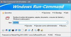 Run-Command es un programa de Windows pequeño y portátil creado como una alternativa a la herramienta de Ejecutar de Windows, pero con opciones avanzadas.