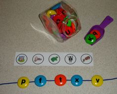 beginning sounds, great hands on - could also do sight words - need this sweets manipulative