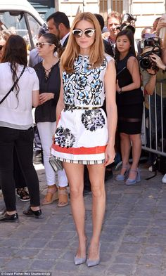 She's in fashion: Olivia Palermo also hit the show, with the US star showing off her impec...