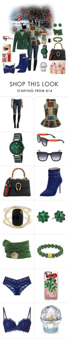 """BIRD"" by cherizard ❤ liked on Polyvore featuring Paige Denim, FAIR+true, Anne Klein, Belstaff, Gucci, Badgley Mischka, Effy Jewelry, Nina, Catherine Michiels and Casetify"