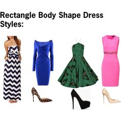"""Rectangle Body Shape Dresses"" by rayne-style on Polyvore"