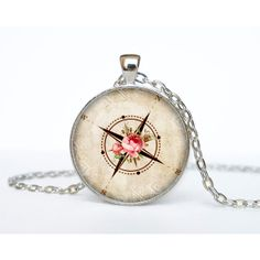 Compass Wind Rose pendant, Compass necklace charm Compass jewelry nautical jewellery ($15) found on Polyvore #ShopPolyvore for Graduation Party! @Polyvore