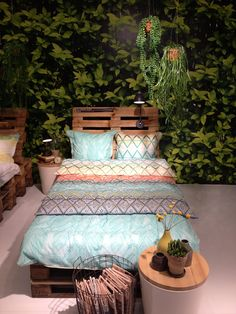 Södahl - tropical bedroom patterns pasteller Decor, Furniture, Outdoor Decor, Outdoor Bed, Outdoor Furniture, Home Decor, Bed, Bedroom, Tropical Bedrooms