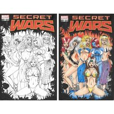 Just to compare how it looks like in #black&white vs #colored #SecretWars #sketchcover #art by #JKova #drawing #sketch #variantcover #marvelcomics #marvel #copic #copicmakers #ink