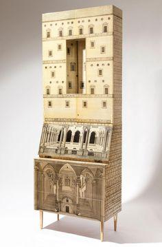 Architettura Trumeau: Piero Fornasetti and Gio Ponti's Small Scale Architecture (1951)