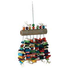 Homemade Bird Toys, Diy Bird Toys, Bird Crafts, Diy Macaw Toys, Cockatiel Care, Dog Friendly Backyard, Giant Bamboo, Diy Bird Cage, Rat Toys