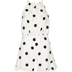 5833c6f24e White polka dot playsuit