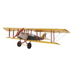Yellow Curtis Jenny Plane1:18 Scale Model