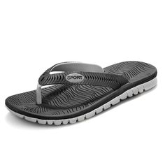 Mens Sea Flip Flops Sandals Rubber Casual Shoes