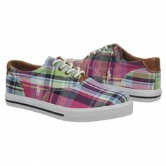 Polo by Ralph Lauren Vaughn Grd Shoes (Pink Multi Plaid) - Kids' Shoes - 5.0 M