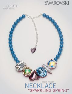 swarovski sparkling spring necklace free design and instructions