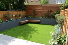 Garden Design chelsea screen raised beds wonderful planting artificial grass floating hardwood bench | London Garden Design