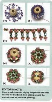Netting beaded bead