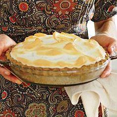 Butterscotch Meringue Pie with Pecan Crust | MyRecipes.com
