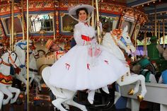 Mary and Bert on the carousel