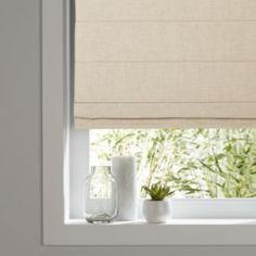 GoodHome Soyo Corded Light Beige Roman blind cm cm - B&Q for all your home and garden supplies and advice on all the latest DIY trends Blinds For You, Blinds For Windows, Curtains With Blinds, Kitchen Window Blinds, Wood Blinds, Night Blinds, Beige Kitchen, Blinde