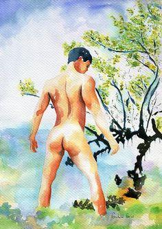 Nude in the lake print
