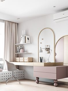 LIGHT on Behance Room Design Bedroom, Girl Bedroom Designs, Home Room Design, Kids Room Design, Bedroom Decor, Dressing Table Design, Luxurious Bedrooms, Girl Room, Room Inspiration