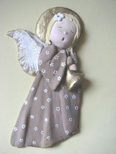 3 Clay Angel, Dremel Wood Carving, Clay Baby, Angels Among Us, Salt Dough, Painted Pots, Paper Clay, Clay Crafts, Ceramic Art