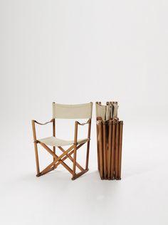 A Set of 4 Vintage Mogens Koch Folding / Directors Chairs, Denmark, 1960s/70s | DesignAddict