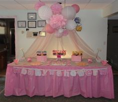 My baby shower dessert table!! Success!!