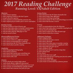 Things have been crazy busy the last two weeks! I've finally had time to come up with the final level for the 2017 reading challenge.     Th...