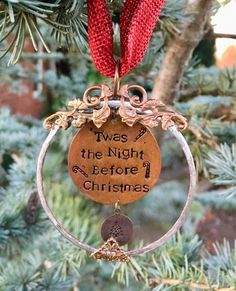 Twas the Night Before Christmas. Personalized Christmas Ornaments, Holiday Ornaments, Glass Ornaments, Holiday Gifts, Thing 1, Twas The Night, The Night Before Christmas, My Glass, Sister Gifts