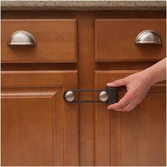 Sliding Cabinet Lock: The no-drill, no-adhesive cabinet lock! Just ...