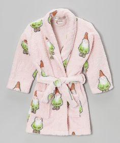 Look at this #zulilyfind! Pink Gnome Robe - Girls by munki munki #zulilyfinds