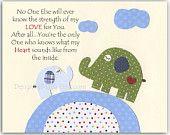 Baby boy Nursery, wall art Decor, Children Art print, elephant..Before you were born..match to the colors Eli's elephants from pottery barn