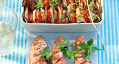 Rougets grillés et tian de légumesVoir la recette des Rougets grillés et tian de légumes >>
