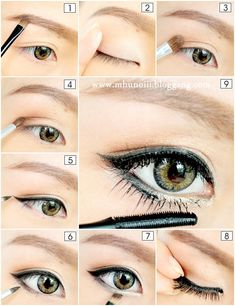Asian eye Make up. The power of makeup and lining your lids with the right colours & apply fake lashes can make a huge difference
