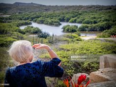 Princess Beatrix of The Netherlands visits the Bubali Bird Sanctuary and Spanish Lagoon of national park Arikok on March 31, 2017 in Oranjestad, Aruba.  The Princess is in Aruba for a three day visit. (Photo by Patrick van Katwijk/Getty Images)