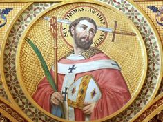 Saint December 29 : St. Thomas Becket : #Archbishop of #Canterbury : Martyr : Patron of #Clergy