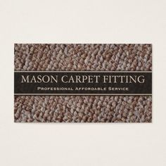 Carpet Fitter / Fitting Business Card | Zazzle.com
