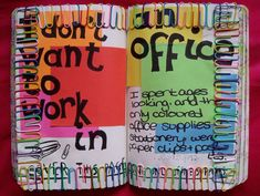 Wreck this journal: office supplies Wreck This Journal, Journal Pages, Create This Book, Journal Inspiration, Journal Ideas, Smash Book, Altered Books, Doodles, Diy Crafts