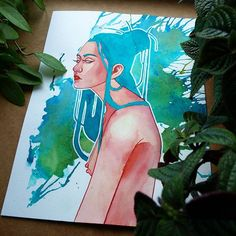 Another watercolor piece. .  .  .  .  .  #watercolor #painting #watercolorpainting #girl #body #art #artwork #style #salt #brush #artsy #paper #character #design #illustration #instaart #instadaily #instagood #artstagram #water #characterdesign #study #practice #beautiful #ugly #nice #photography