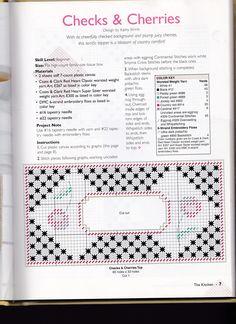 Checks & Cherries Tissue Box Cover 2/3