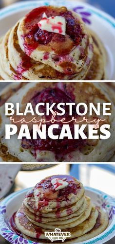 Blackstone Raspberry Pancakes are delicious homemade pancakes with fresh, juicy raspberries dropped in while they cook! Top with Raspberry Syrup for the ultimate raspberry breakfast experience.