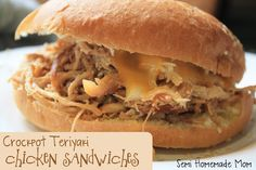 Semi Homemade Mom: Crockpot Teriyaki Chicken Sandwiches