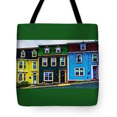 Old Jellybean Row Houses Tote Bag x Newfoundland, Jelly Beans, Bag Sale, The Row, 18th, Houses, Shoulder Bag, Tote Bag, Photography