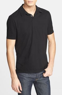 James Perse Trim Fit Sueded Cotton Jersey Polo available at #Nordstrom