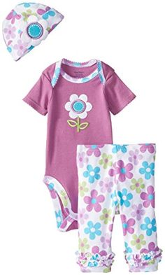 Gerber Baby-Girls Newborn 3 Piece Girl Sets Floral Bodysuit Cap and Leggings, Purple, 0-3 Months Gerber http://www.amazon.com/dp/B00PK47EZA/ref=cm_sw_r_pi_dp_3Hu3ub0YEWJVT