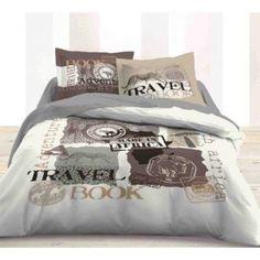 HOUSSE DE COUETTE  Housse de couette Travel book Comforters, Blanket, Bedroom, Home, Duvet, Linens, Slipcovers, Creature Comforts, Quilts