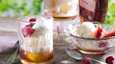 Frozen yogurt eli jogurttijäätelö - K-ruoka Frozen Yoghurt, Yogurt, Healthy Treats, Sorbet, Ice Cream, Pudding, Sweets, Cheese, Vegan