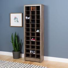 Prepac Drifted Gray Composite Shoe Rack at Lowe's. Simply and stylishly organize up to 36 pairs of shoes with the space-saving shoe storage cabinet by Prepac. Fit one cabinet in a narrow entryway or Furniture, Storage Rack, Shoe Storage Cabinet, Home, Space Saving Shoe Rack, Prepac, Storage, Rack Design, Space Saving