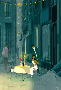 As lindas cores das ilustrações de Pascal Campion : Eu Te Amo Hoje